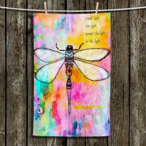 Unique Hanging Tea Towels | Robin Mead - Beneath the Surface | Abstract Shapes