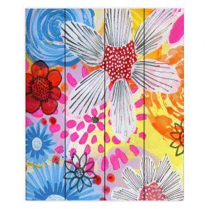 Decorative Wood Plank Wall Art | Robin Mead - Believe | floral flower pattern