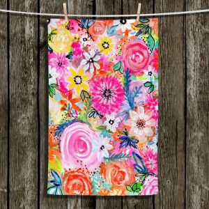 Unique Hanging Tea Towels | Robin Mead - Blissful | flower pattern simple abstract