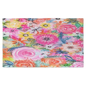Artistic Pashmina Scarf | Robin Mead - Blissful | flower pattern simple abstract