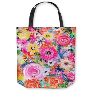 Unique Shoulder Bag Tote Bags   Robin Mead - Blissful   flower pattern simple abstract