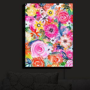 Nightlight Sconce Canvas Light | Robin Mead - Blissful | flower pattern simple abstract