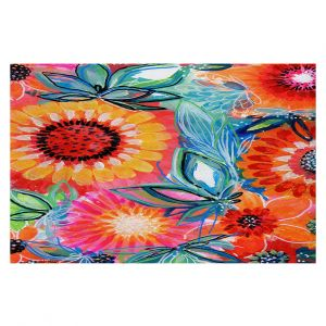 Decorative Floor Covering Mats | Robin Mead - Bodacious | floral flower pattern
