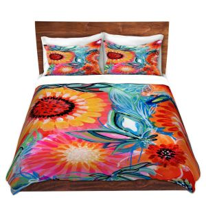 Artistic Duvet Covers and Shams Bedding   Robin Mead - Bodacious   floral flower pattern
