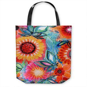 Unique Shoulder Bag Tote Bags | Robin Mead - Bodacious | floral flower pattern