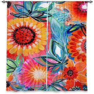 Decorative Window Treatments | Robin Mead - Bodacious | floral flower pattern