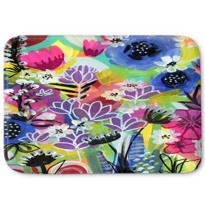 Decorative Bathroom Mats | Robin Mead - Botanical 2 | flower simple outline nature