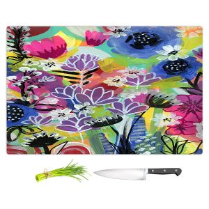 Artistic Kitchen Bar Cutting Boards | Robin Mead - Botanical 2 | flower simple outline nature