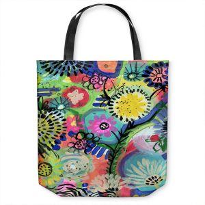Unique Shoulder Bag Tote Bags   Robin Mead - Botanical 1   flower simple outline nature