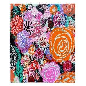 Decorative Fleece Throw Blankets | Robin Mead - Botanical Dream | Floral Pattern Flowers Nature