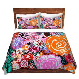 Artistic Duvet Covers and Shams Bedding | Robin Mead - Botanical Dream | Floral Pattern Flowers Nature