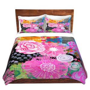 Artistic Duvet Covers and Shams Bedding | Robin Mead - Bounty 1 | Floral Pattern Flowers Nature