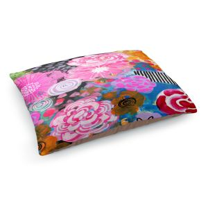 Decorative Dog Pet Beds | Robin Mead - Bounty 2 | Floral Pattern Flowers Nature