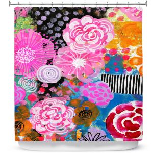 Premium Shower Curtains | Robin Mead - Bounty 2 | Floral Pattern Flowers Nature