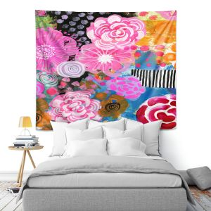 Artistic Wall Tapestry | Robin Mead - Bounty 2 | Floral Pattern Flowers Nature