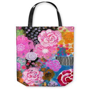 Unique Shoulder Bag Tote Bags | Robin Mead - Bounty 2 | Floral Pattern Flowers Nature
