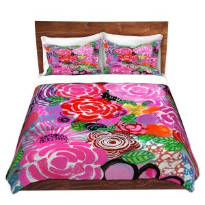 Artistic Duvet Covers and Shams Bedding | Robin Mead - Bounty 3 | Floral Pattern Flowers Nature