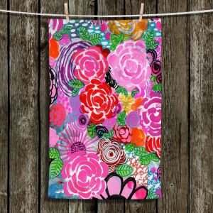 Unique Bathroom Towels | Robin Mead - Bounty 3 | Floral Pattern Flowers Nature