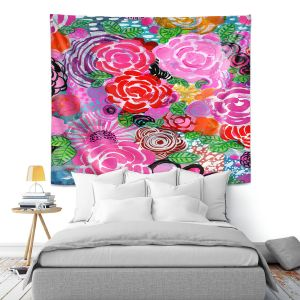 Artistic Wall Tapestry | Robin Mead - Bounty 3 | Floral Pattern Flowers Nature