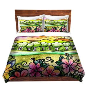 Artistic Duvet Covers and Shams Bedding | Robin Mead - Bright Horizon