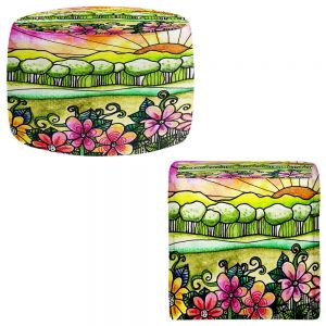 Round and Square Ottoman Foot Stools | Robin Mead - Bright Horizon