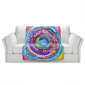 Artistic Sherpa Pile Blankets | Robin Mead - Chasing | Geometric Pattern
