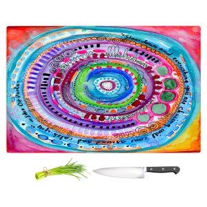 Artistic Kitchen Bar Cutting Boards | Robin Mead - Chasing | Geometric Pattern
