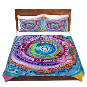 Artistic Duvet Covers and Shams Bedding | Robin Mead - Chasing | Geometric Pattern
