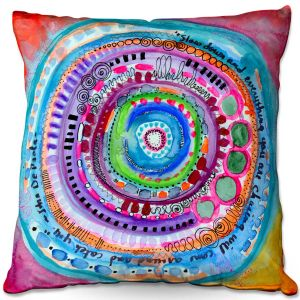 Decorative Outdoor Patio Pillow Cushion | Robin Mead - Chasing | Geometric Pattern