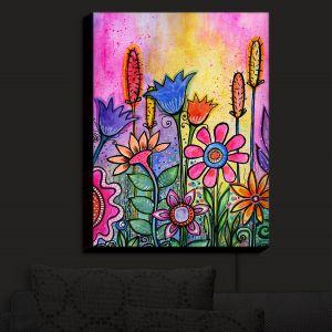 Nightlight Sconce Canvas Light | Robin Mead - Chasitys Garden | Floral Flowers Daisy Tulips