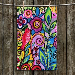 Unique Bathroom Towels | Robin Mead - Color Floral | Floral Pattern Flowers Nature