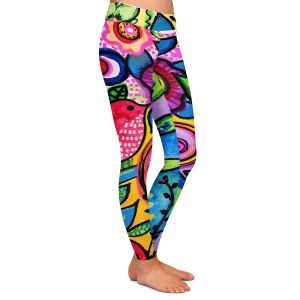 Casual Comfortable Leggings | Robin Mead - Color Floral | Floral Pattern Flowers Nature