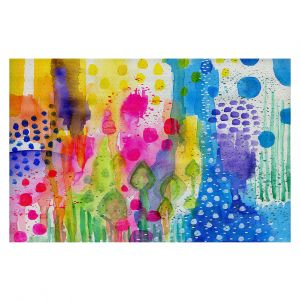 Decorative Floor Covering Mats | Robin Mead - Color Play | Abstract flowers floral
