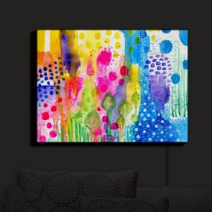 Nightlight Sconce Canvas Light | Robin Mead - Color Play | Abstract flowers floral
