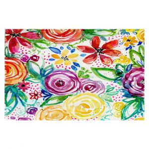 Decorative Floor Covering Mats   Robin Mead - Daydreams   flower pattern repetition