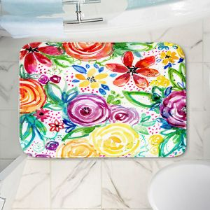 Decorative Bathroom Mats | Robin Mead - Daydreams | flower pattern repetition