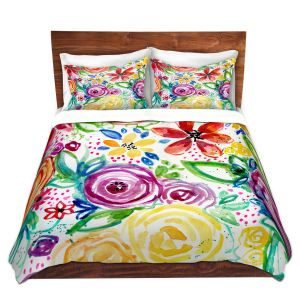 Artistic Duvet Covers and Shams Bedding   Robin Mead - Daydreams   flower pattern repetition
