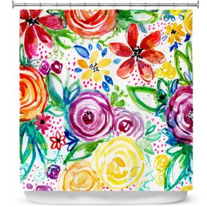 Premium Shower Curtains | Robin Mead - Daydreams | flower pattern repetition