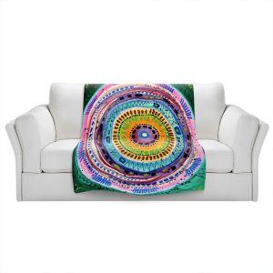 Artistic Sherpa Pile Blankets | Robin Mead - Dont Settle | Geometric Pattern