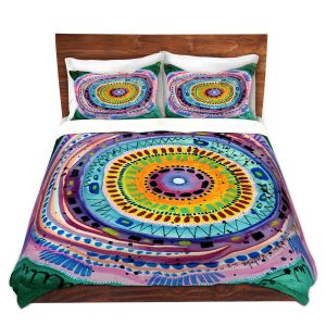 Artistic Duvet Covers and Shams Bedding   Robin Mead - Dont Settle   Geometric Pattern