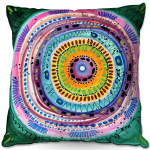 Throw Pillows Decorative Artistic   Robin Mead - Dont Settle   Geometric Pattern