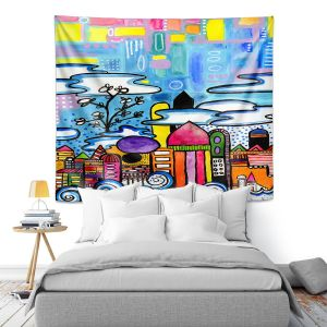Artistic Wall Tapestry | Robin Mead - Downtown | City Scape, Skyline