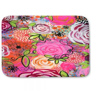 Decorative Bathroom Mats | Robin Mead - Eloquent 44 | flower pattern