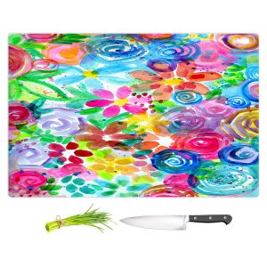 Artistic Kitchen Bar Cutting Boards | Robin Mead - Esprit | flower simple outline nature