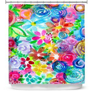 Premium Shower Curtains | Robin Mead - Esprit | flower simple outline nature