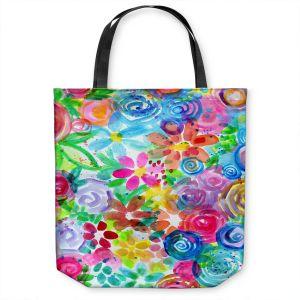 Unique Shoulder Bag Tote Bags | Robin Mead - Esprit | flower simple outline nature