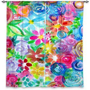 Decorative Window Treatments | Robin Mead - Esprit | flower simple outline nature