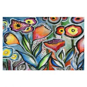 Decorative Floor Covering Mats | Robin Mead - Eternal 1 | flower still life