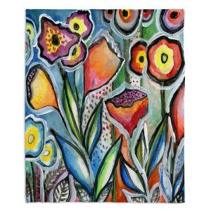 Decorative Fleece Throw Blankets | Robin Mead - Eternal 1 | flower still life