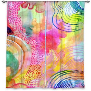 Decorative Window Treatments | Robin Mead - Ethereal | abstract shapes watercolor ripples